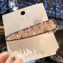 Korean girl simple rhinestone clip hair accessory NHOF157731
