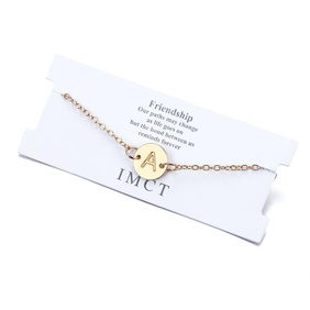 New fashion round 26 letter alloy bracelet NHPF157834