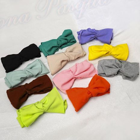 Sweet and lovely wide-brimmed bow knit hair band NHDM157836's discount tags
