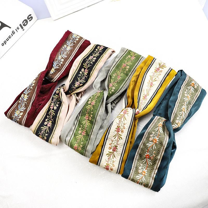 New color embroidery hair band NHDM157838