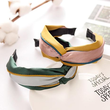 New contrast color knotted cloth headband NHRH157853's discount tags