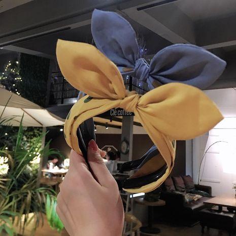 Fashion polka dot fabric bow headband NHRH157858's discount tags