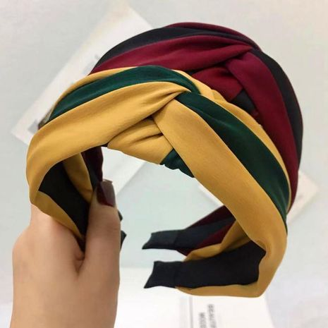 New contrast color cross knotted fabric headband NHRH157861's discount tags