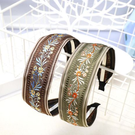 Vintage embroidery flower headband NHDM157865's discount tags