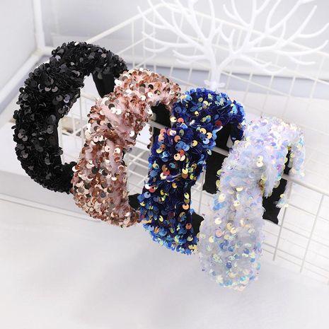 Fashion sequin fish scale headband NHDM157866's discount tags