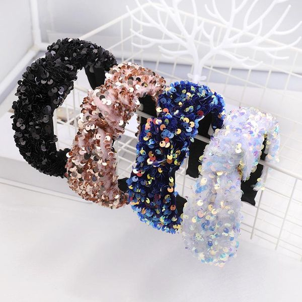 Fashion sequin fish scale headband NHDM157866