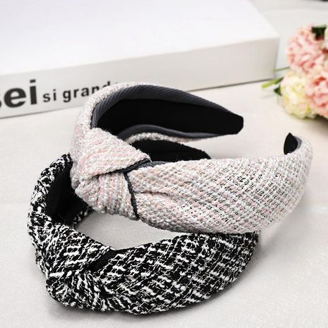 Sweet houndstooth middle knotted headband NHDM157875's discount tags