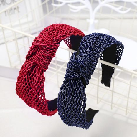 New woven retro knotted headband NHDM157878's discount tags