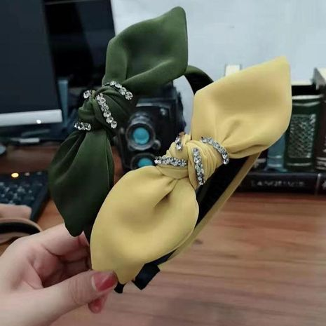 Fashion bow rhinestone headband NHRH157897's discount tags