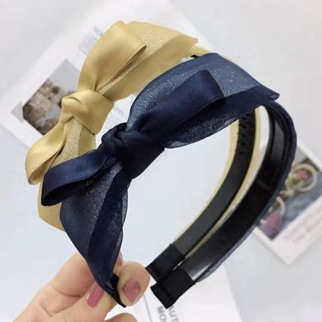 New mesh lace sequin bow headband NHRH157899's discount tags