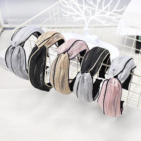 Fashion cross-knit solid color matching headband NHDM157905's discount tags