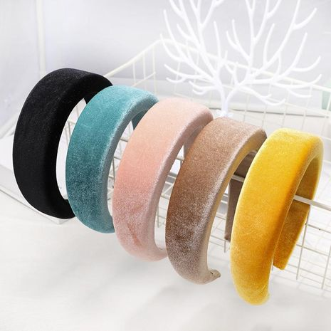 Fashion velvet sponge headband NHDM157914's discount tags