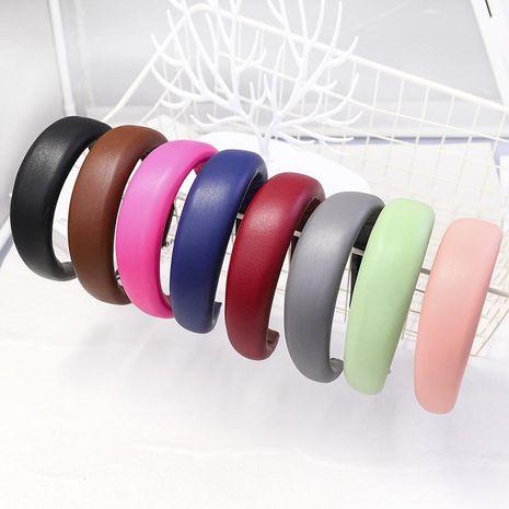 Simple PU solid color sponge headband NHDM157915's discount tags