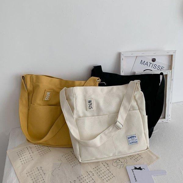 Ancient canvas female college student wild Messenger bag NHHX157960