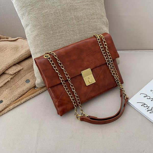 Fashion Messenger Large Capacity Chain Bag NHLD158073