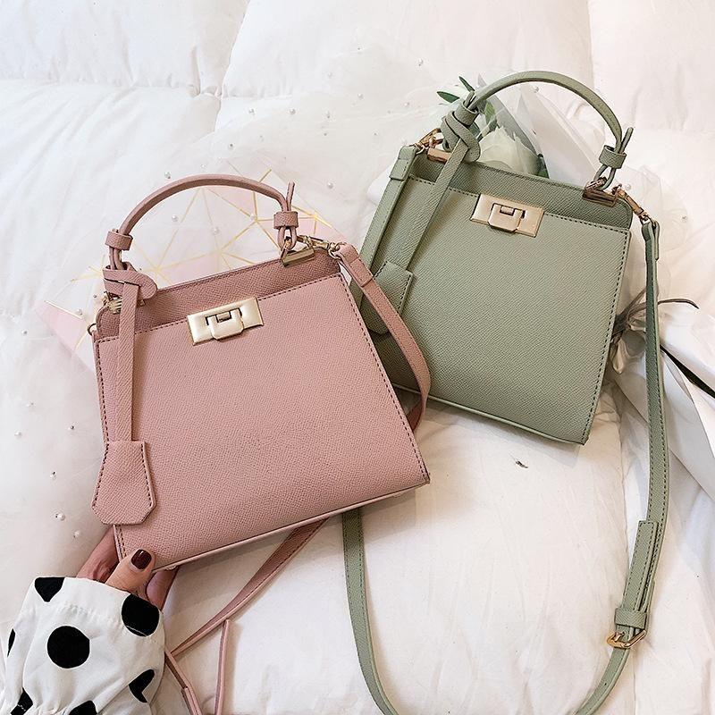 Fashion atmosphere diagonal cross bag palm print small handbag NHLD158077