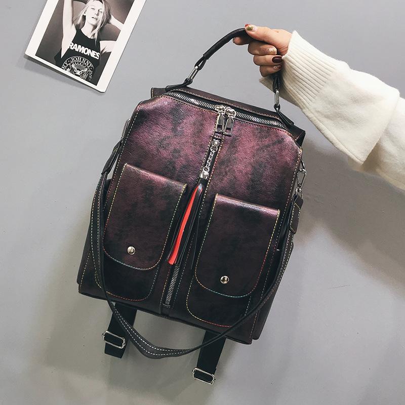Fashion Korean shoulder PU leather travel bag NHLD158078