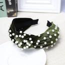 Simple nailed pearl velvet knotted vintage bow headband NHDM157913