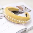 NHDM398186-Yellow-velvet-pearl-headband