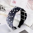 NHDM398414-Gray-velvet-+-nail-pearl-headband