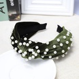 NHDM398423-Moss-green-velvet-+-nail-pearl-headband