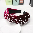 NHDM398424-Wine-red-velvet-+-nail-pearl-headband