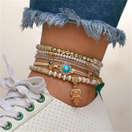 Fashion Eye Palm Love Beaded Bracelet Set of 6 NHKQ158109's discount tags
