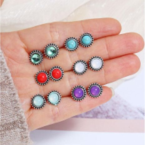 Womens Geometric Diamond Alloy Earrings NHKQ158131's discount tags