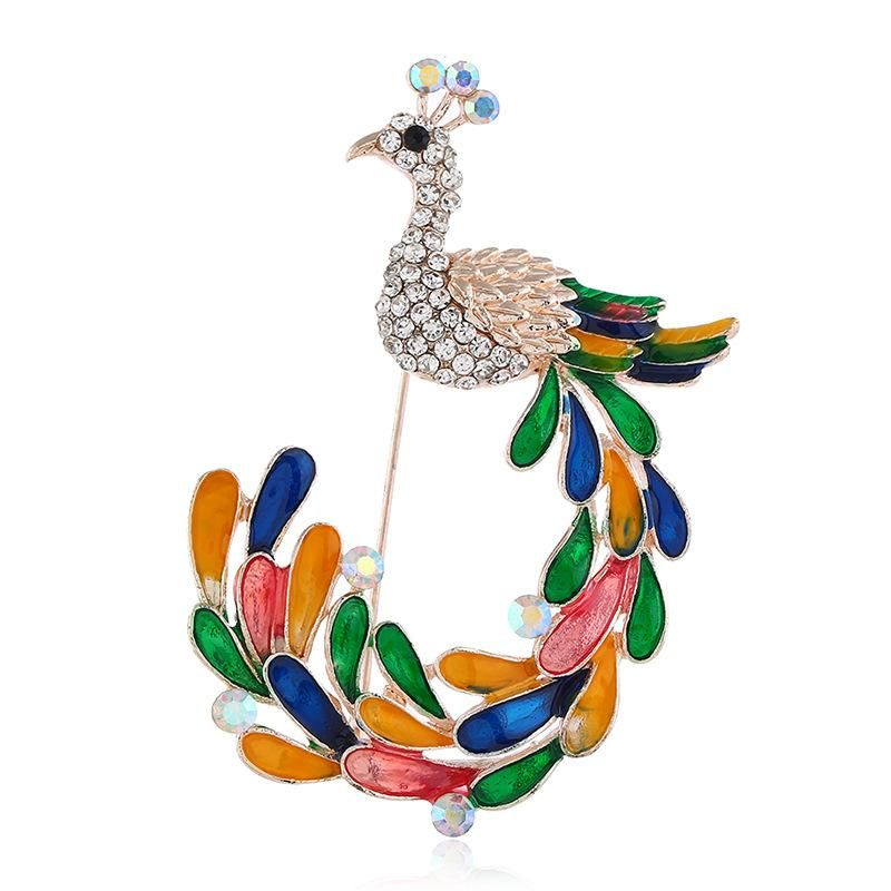 Womens Animal Drip Alloy Brooches NHKQ158138