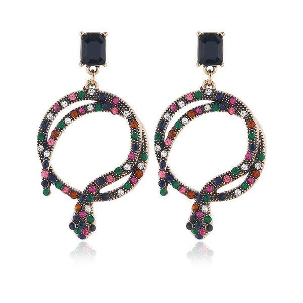 Creative personality zircon snake female long earrings NHKQ158163