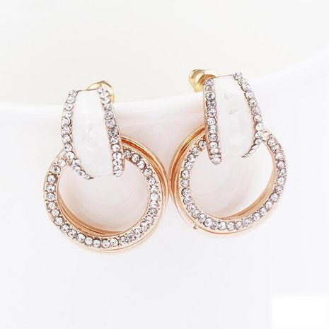 Fashion artificial gemstone shell fluorescent alloy earrings NHKQ158203's discount tags