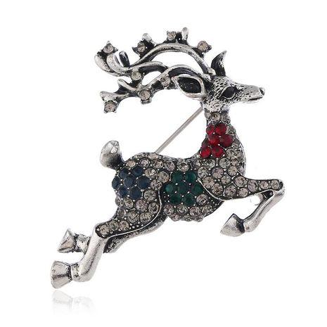 Cute animal fawn artificial gemstone alloy brooch NHKQ158207's discount tags