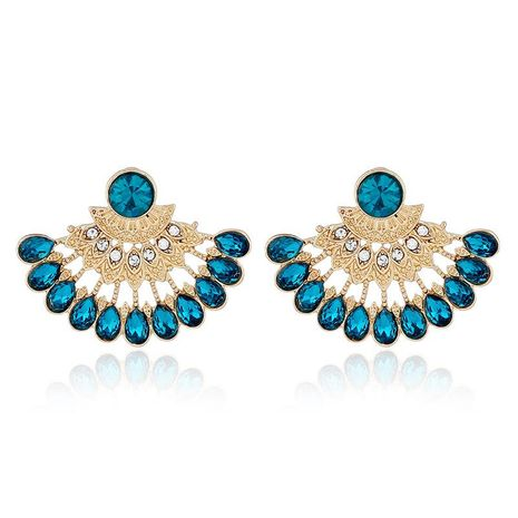 European and American personality alloy artificial gemstone earrings NHKQ158208's discount tags