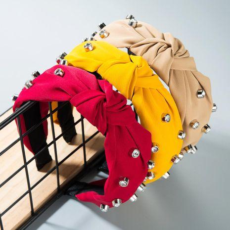 Fashion rhinestone bow headband NHLN158215's discount tags