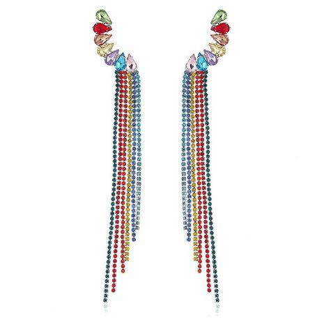 Womens Water Drops Tassel Rhinestone Earrings NHKQ158235's discount tags