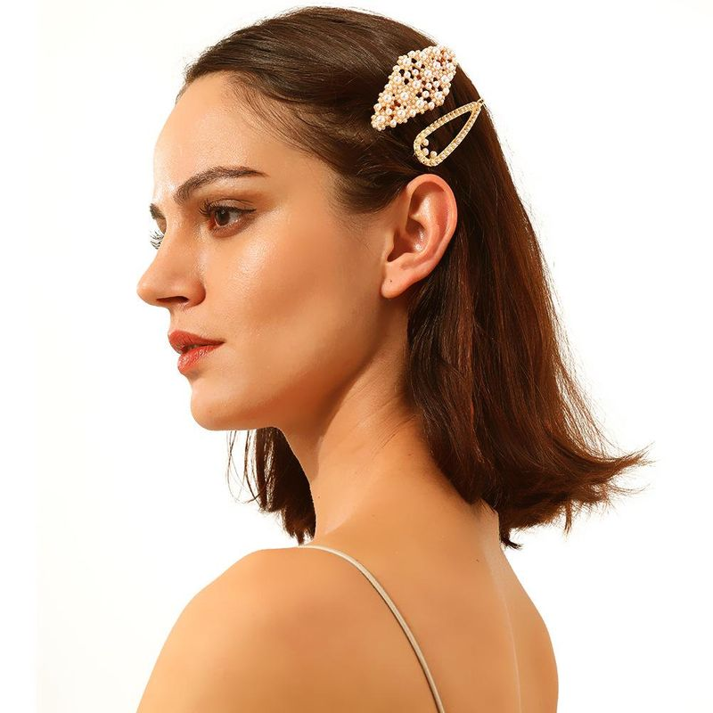 Moda Street Shoot INS Wind Pearl Alloy Hair Accessories NHMD158245