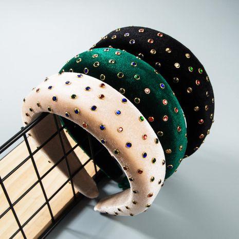 Thick sponge gold velvet headband NHLN158261's discount tags