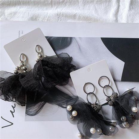 Pendientes llamativos de piedras preciosas artificiales atmosféricas de malla NHYQ158266's discount tags