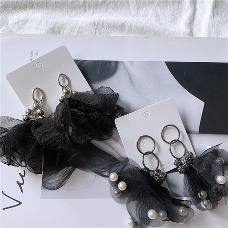 Mesh atmospheric artificial gemstone eye-catching earrings NHYQ158266's discount tags