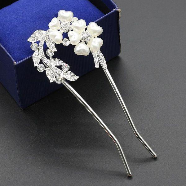 Fashion hollow crystal flower hair braid hair accessory NHDP158298