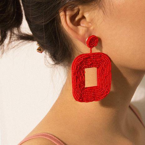 Womens Geometric Handmade Rice Beads Earrings NHXR158297's discount tags