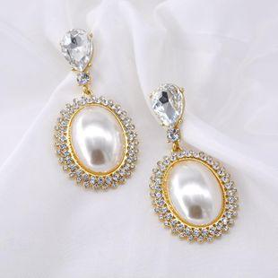 Vintage Nightclub Pearl Western Antique Alloy Earrings NHNT158344's discount tags