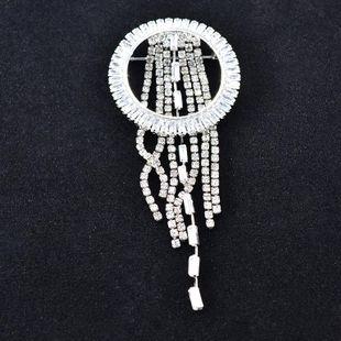 Fashion autumn and winter rhinestone tassel alloy brooch NHNT158347's discount tags