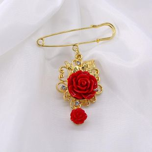 Korean sweater rose alloy brooch NHNT158353's discount tags