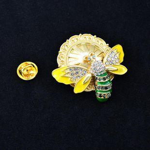 Vintage temperament gemstone flower pearl alloy brooch NHNT158359's discount tags