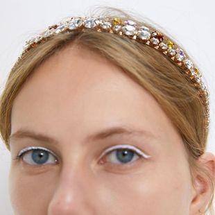 Fashion show man-made gemstone alloy headband NHMD158361's discount tags