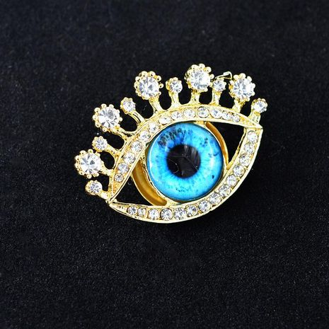 Vintage Baroque exaggerated blue eyes big gem brooch NHNT158374's discount tags