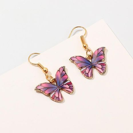 Womens Butterfly Plating Alloy Earrings NHNZ158369's discount tags