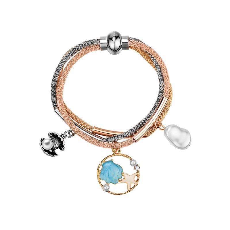 Fashion Fringe Pearl Ocean World Environmentally Friendly Zinc Alloy Bracelet NHXS158377