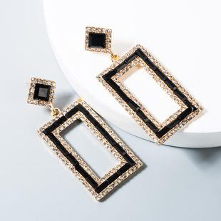 Fashion temperament alloy rhinestone earrings NHLN158379's discount tags